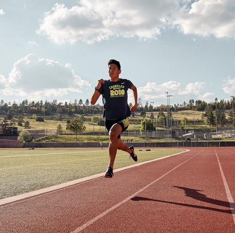male runner on track