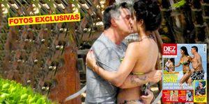 Alejandro Sanz con su novia Rachel Valdés en México