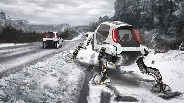 hyundai walking car concept
