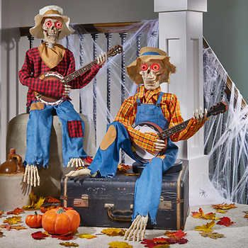 Costco Is Selling a Pair of Skeleton Scarecrows That Talk and Sing