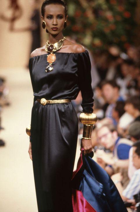 défilé saint laurent, haute couture, collection automne hiver 198889