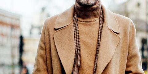 Street fashion, Clothing, Outerwear, Fashion, Beige, Neck, Jacket, Blazer, Coat, Overcoat,