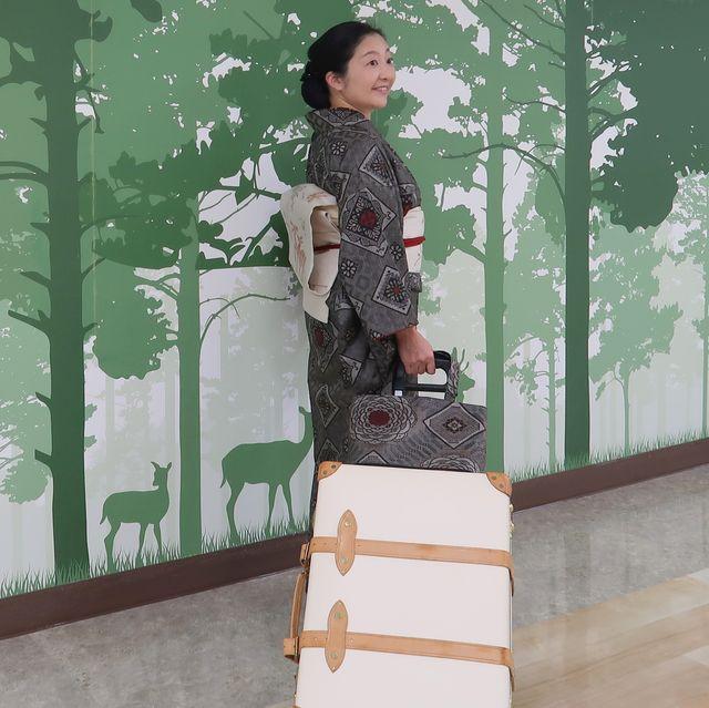 朝香沙都子さん 着物で旅行