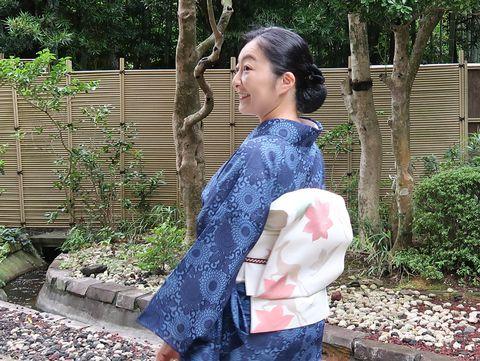 朝香沙都子さん 9月の小紋