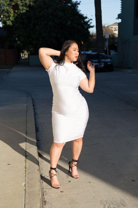 White, Shoulder, Clothing, Photograph, Dress, Beauty, Waist, Fashion, Leg, Snapshot,