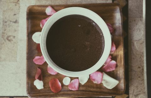 Food, Pink, Cuisine, Hot chocolate, Cup, Drink, Dish,