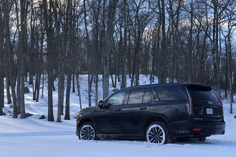 cadillac escalade diesel snow
