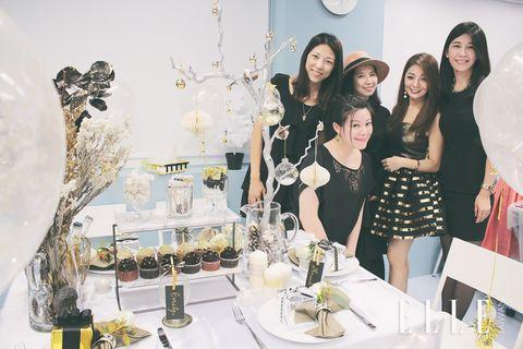 White, Yellow, Fashion, Design, Room, Dress, Event, Interior design, Party, Table,