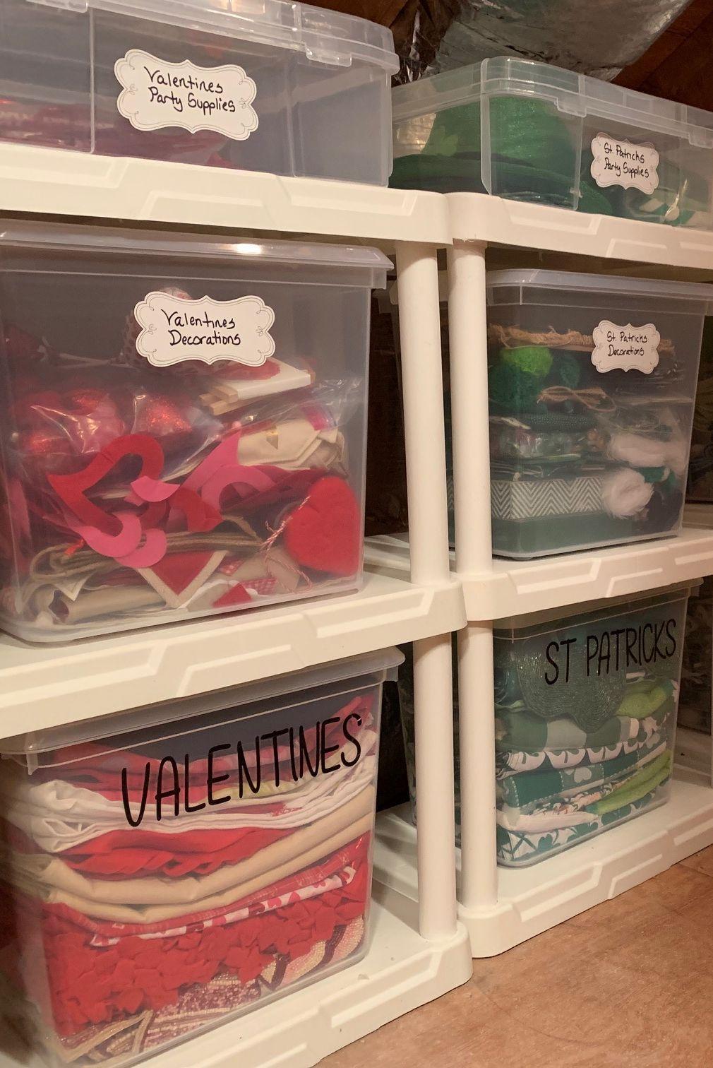 unfinished attic storage bins