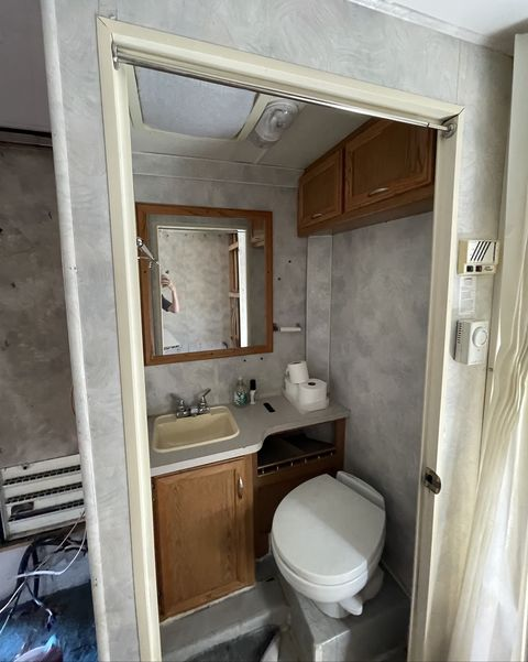 rv bathroom before