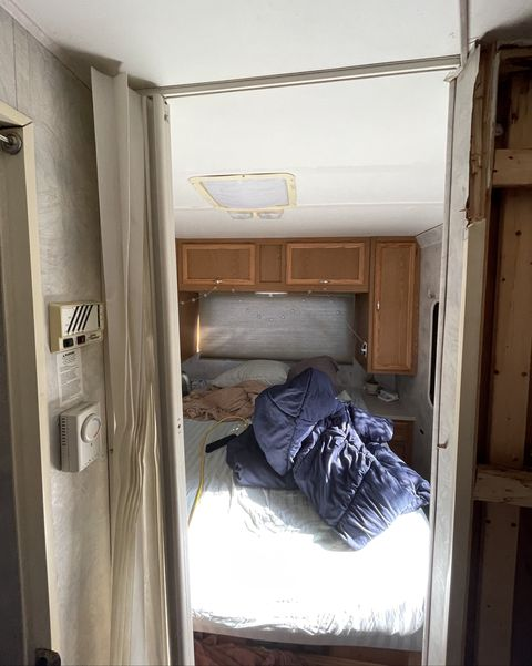 before rv bedroom