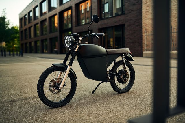 the blacktea moped electric motorcycle