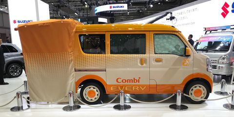 Suzuki's Every Go Anywhere Baby Room Is a Wacky Van Concept with an Even Wackier Name