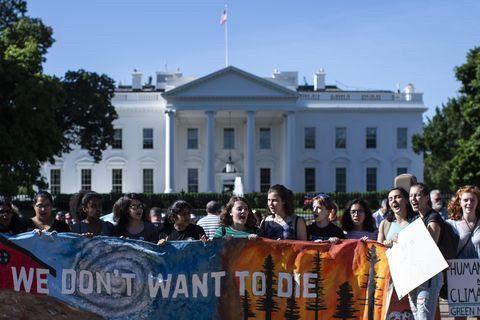 抗議デモ ホワイトハウス