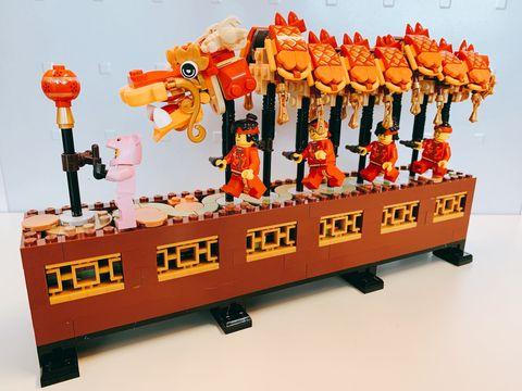 樂高,LEGO,樂高限定,舞龍舞獅,年夜飯,拜年,紅包