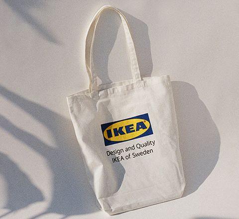 ikea環保購物袋上面有ikea字樣