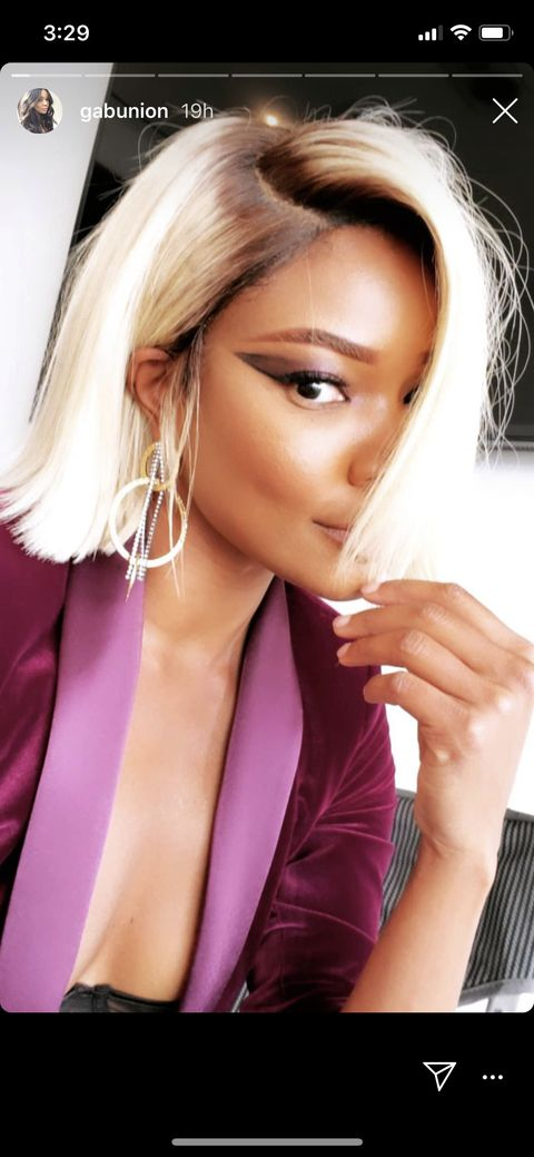 """Gabrielle Union Debuted Blonde Hair—But Says She's """"Not Having Any More Fun Than Usual"""""""
