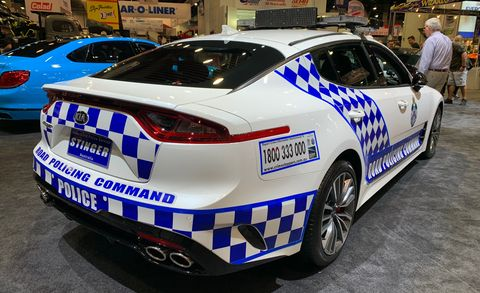 Queensland Police Kia Stinger GT at SEMA