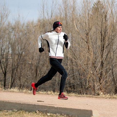 White, Running, Outdoor recreation, Recreation, Individual sports, Tree, Ultramarathon, Winter, Sports, Fun,