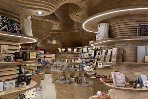Pottery, Interior design, Ceramic, Wood, Building, earthenware, Art,