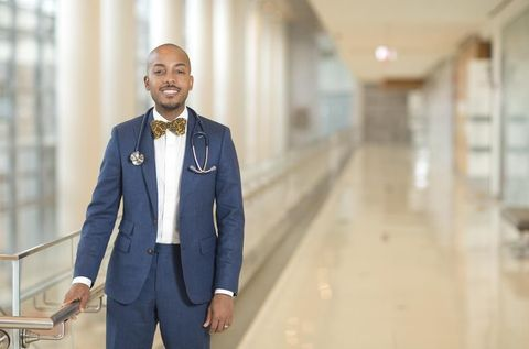 Darrell gray, md in the hospital corridor