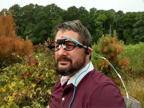 Hair, Glasses, Eyewear, Botany, Leaf, Beard, Facial hair, Tree, Plant, Grass,
