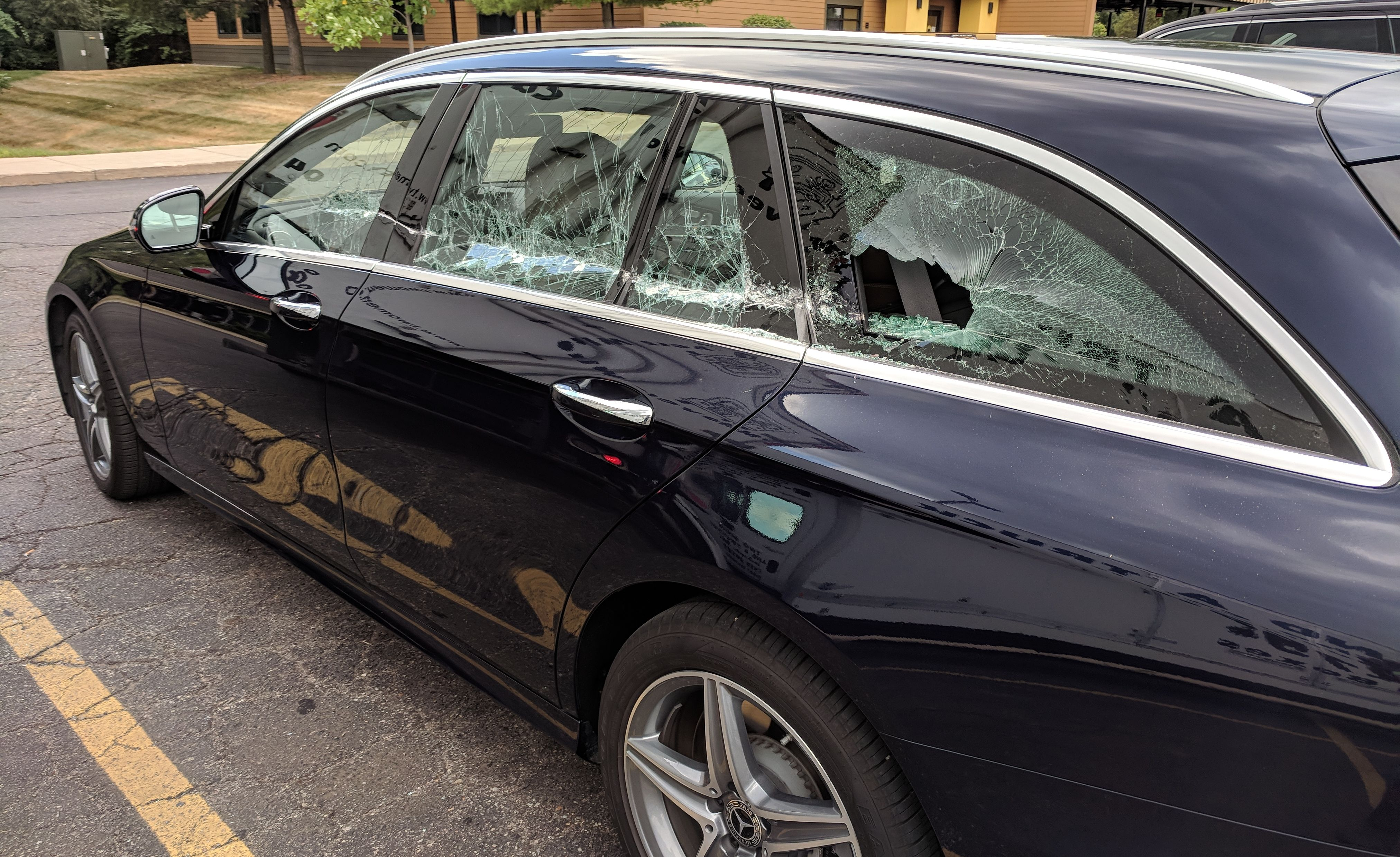 Car and Driver's totaled 2018 Mercedes-Benz E400 wagon