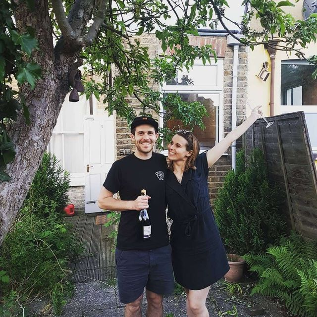 Plant, House, T-shirt, Real estate, Shrub, Garden, Backyard, Home, Yard, Door,