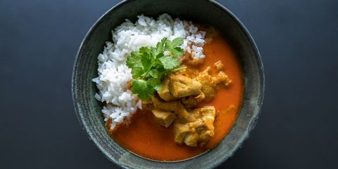 Dish, Food, Cuisine, Curry, Ingredient, Red curry, Steamed rice, White rice, Japanese curry, Rice and curry,