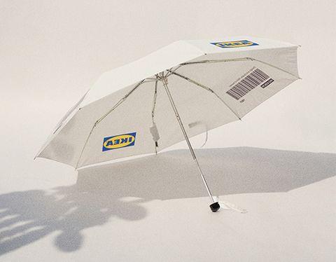 白色ikea雨傘標籤、條碼