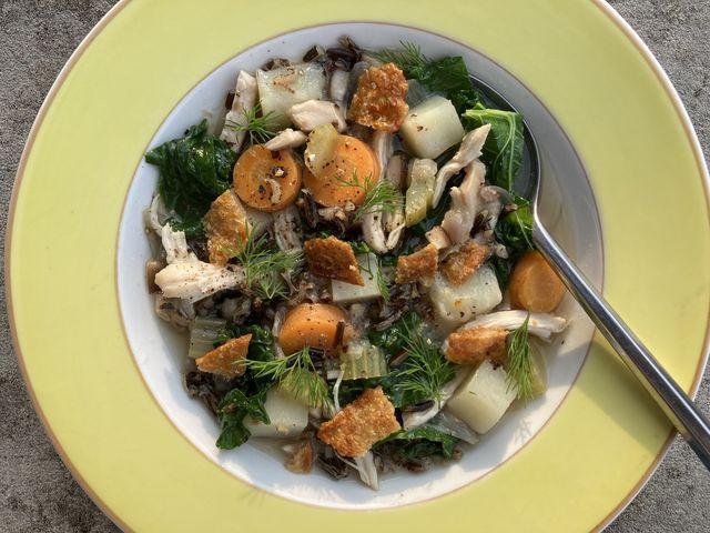 chicken  wild rice soup  delishcom