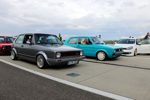 Land vehicle, Vehicle, Car, Regularity rally, Automotive design, Volkswagen golf mk1, Hatchback, Classic car, Coupé, Sedan,