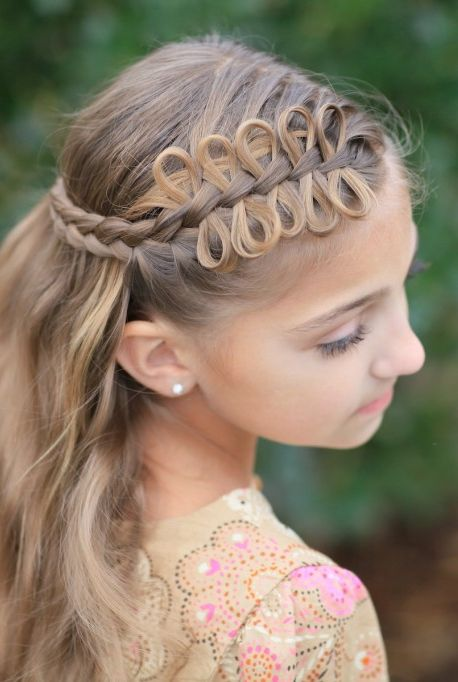 Easter Hairstyles - Bow Braid TieBack