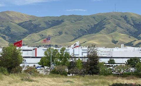 tesla factory lot, may 11, 2020
