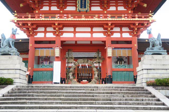 京都 伏見稲荷大社 茅の輪