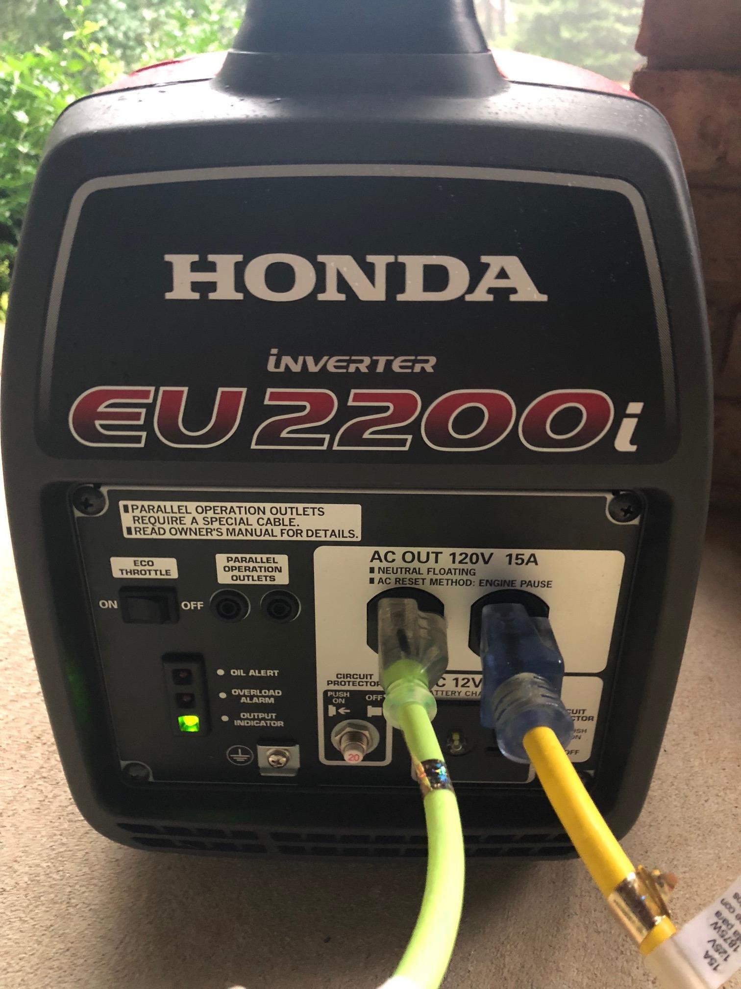 Honda Eu2200i Generator How Im Getting Through Hurricane Florence Wiring Portable To House Hook Up Harness