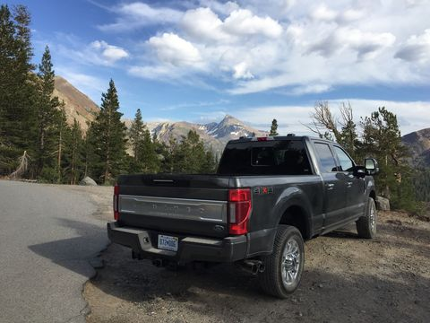 2020 ford super duty f 250 4x4 takes on the sierra nevada