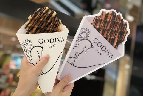 GODIVA cafe比利時鬆餅