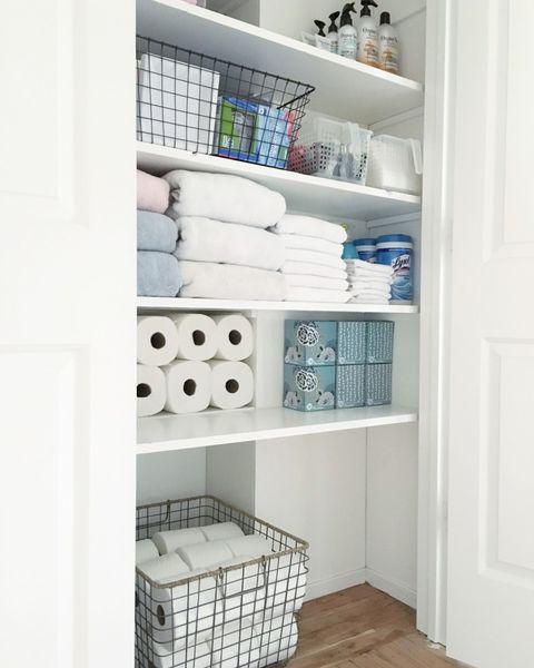 48 Best Linen Closet Organization Tips In 48 How To Organize Interesting Bathroom Closet Design