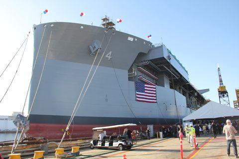 Ship, Vehicle, Watercraft, Naval architecture, Amphibious transport dock, Navy, Battleship, Aircraft carrier, Handymax, Heavy lift ship,