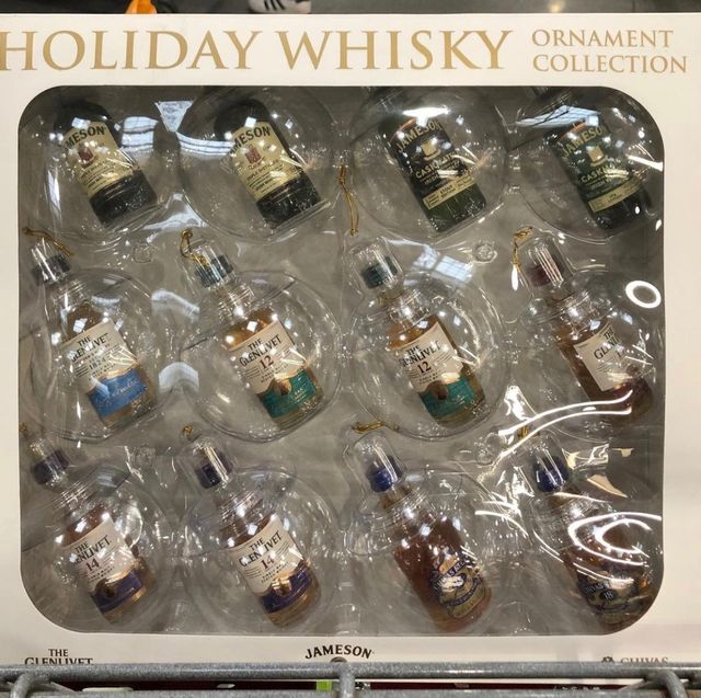 holiday whisky ornament collection