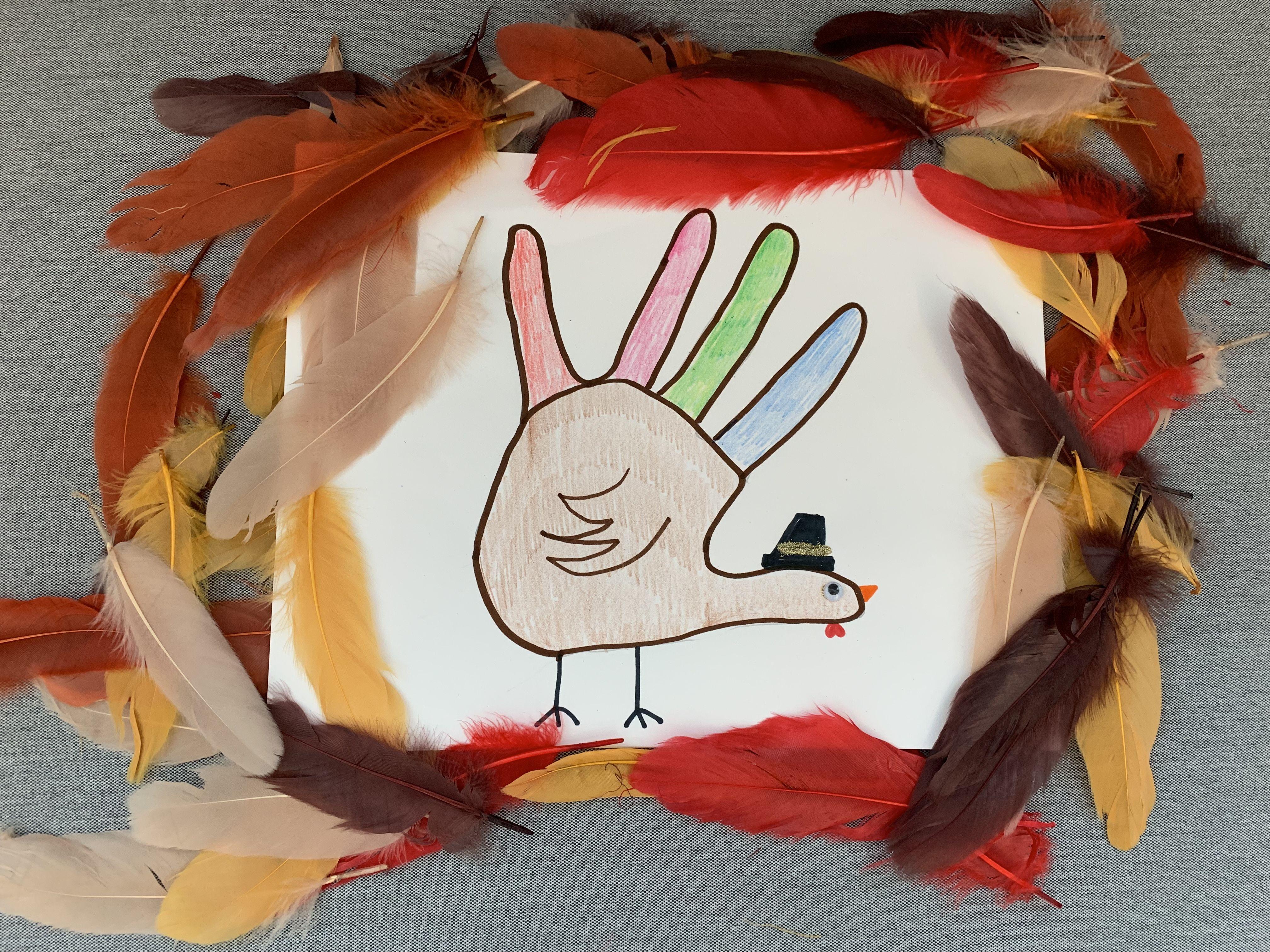 How to Make a Hand Turkey \u2014 Easy Hand Turkey Drawing Tutorial