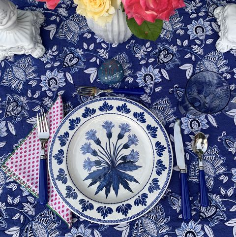Blue, Porcelain, Textile, Flower, Pattern, Rose, Blue and white porcelain, Plant, Floral design, Tableware,