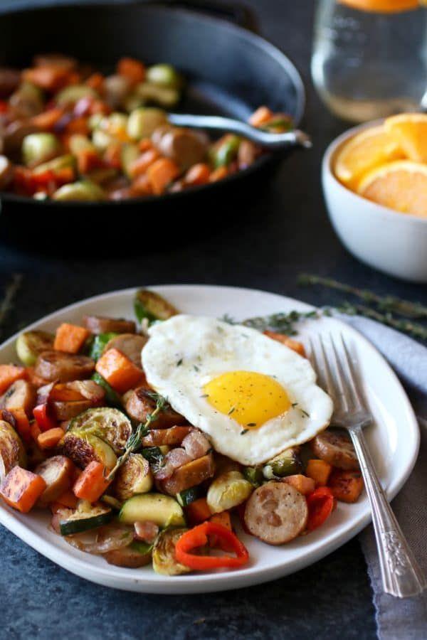 Chicken & Apple Sausage Sweet Potato Hash