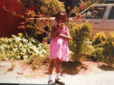 the author, alicia garza, at age 4, photographed in oakland in 1985