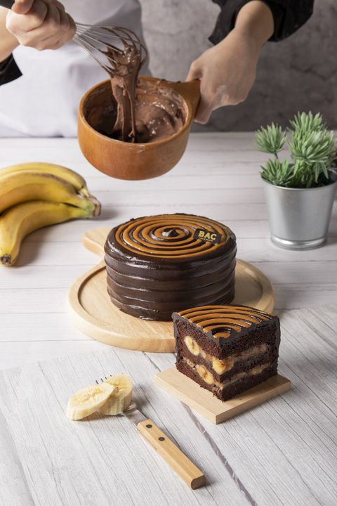 BAC焦糖香蕉巧克力蛋糕