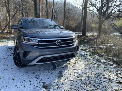 the vw atlas cross sport will handle light off roading and heavy loads of goods from big box stores