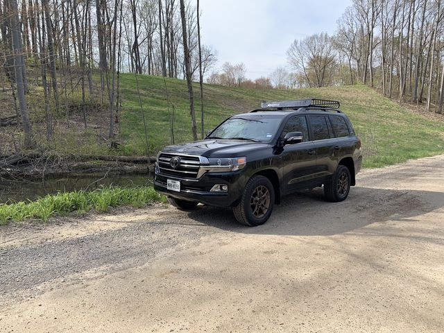 the toyota land cruiser heritage edition is large and luxurious and yet include enough off roading chops to be considered legit