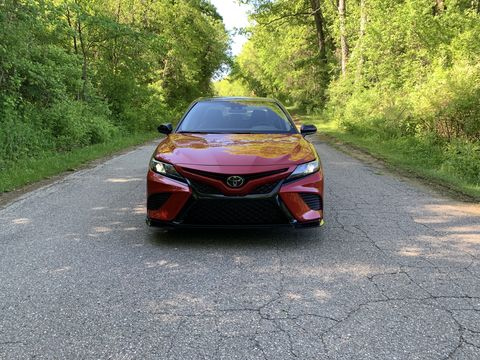the 2020 toyota camry trd delivers a surprisingly sporty drive and an overtly sporty look