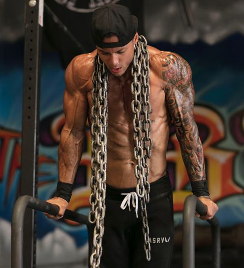 Barechested, Muscle, Physical fitness, Arm, Chest, Bodybuilder, Tattoo, Human, Human body, Abdomen,